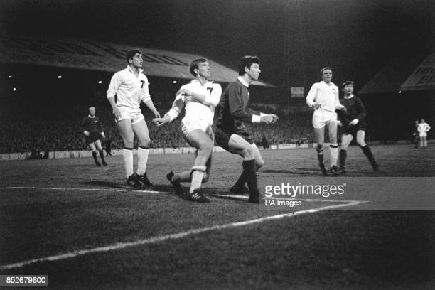 Action from the first leg of the European Cup Winners Cup quarterfinal match against Moscow Torpedo at Ninian Park Cardiff