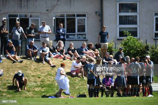 Action from the friendly match between FC Copenhagen and Lyngby Boldklub at KB's baner on June 27 2018 in Frederiksberg Denmark
