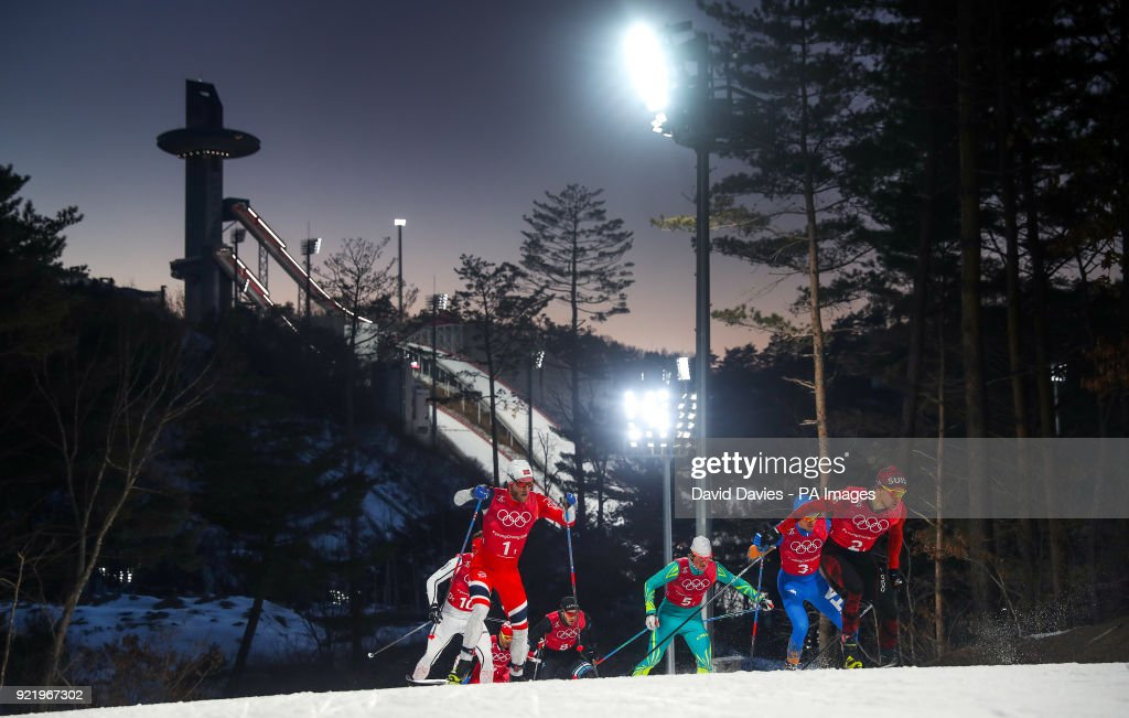 Action from the Men's Semi Final Cross Country Sprint at the Alpensia Cross Country centre during day twelve of the PyeongChang 2018 Winter Olympic Games in South Korea.