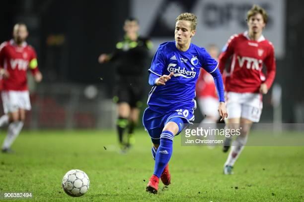 Action from the test match between FC Copenhagen and Vejle Boldklub in Telia Parken Stadium on January 18 2018 in Copenhagen Denmark