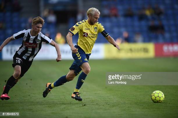 Action from the UEFA Europa League Qualification match between Brondby IF and VPS Vaasa at Brondby Stadion on July 13 2017 in Brondby Denmark