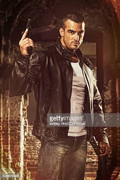 action hero - most handsome black men stock photos and pictures