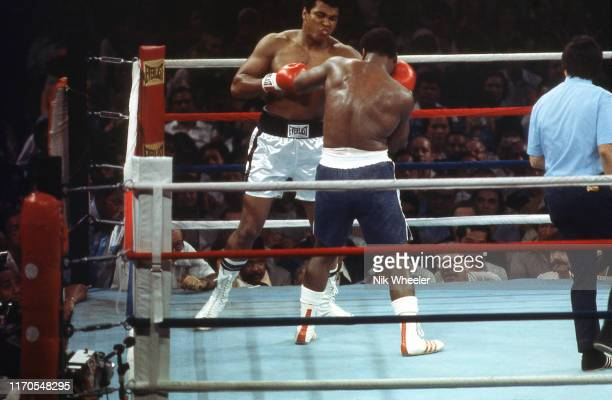Action in the Ring during the world championship boxing match between Muhammad Ali and Joe Frazier in the Philippine Coliseum in Quezon City...