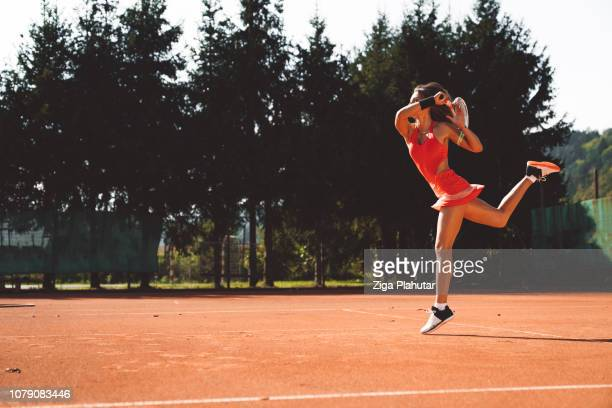 action is reaction! - tennis player stock pictures, royalty-free photos & images