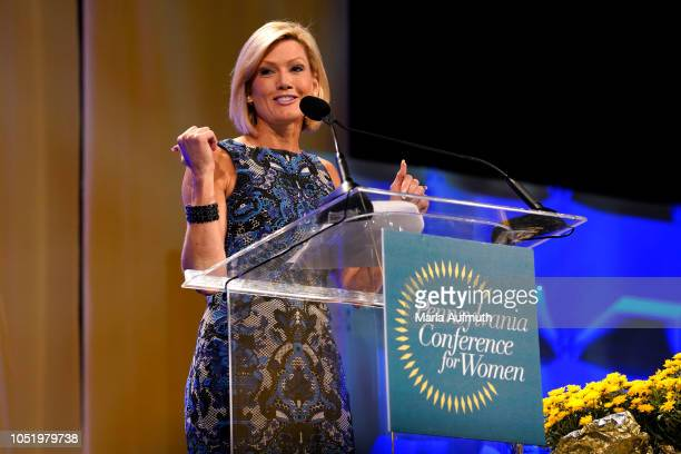 Action News weeknight meteorologist Cecily Tynan delivers her Keynote Speech on stage during Pennsylvania Conference for Women 2018 at Pennsylvania...
