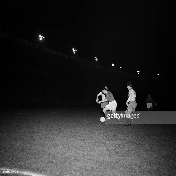 Action of French national team players against the Swede's national team on March 26 1952 at Paris AFP PHOTO