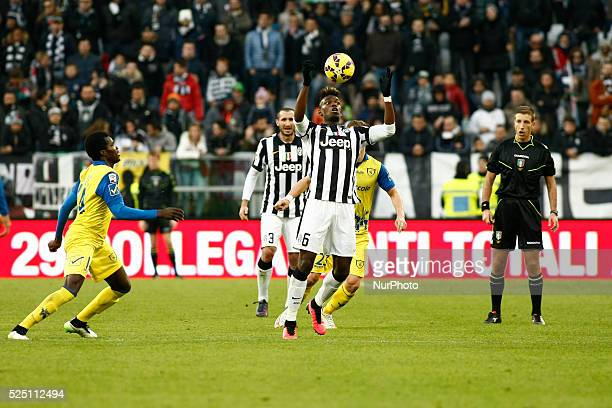 Action of Paul Pogba during the Serie A match between Juventus FC and AC Chievo Verona at Juventus Stafium on january 25 2015 in Torino Italy