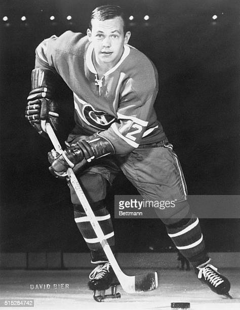 Action shot of Hall of Fame ice hockey player Yvan Cournoyer who played for the Montreal Canadiens form 19641978