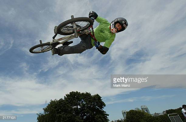 "Action sports athlete Dave Mirra at the ""T-Mobile Ramps and Amps Invitational"" July 19, 2003 Randalls Isalnd in New York City."
