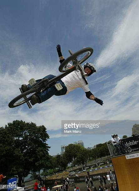 "Action sports athlete Ryan Nyquist at the ""T-Mobile Ramps and Amps Invitational"" July 19, 2003 Randalls Isalnd in New York City."