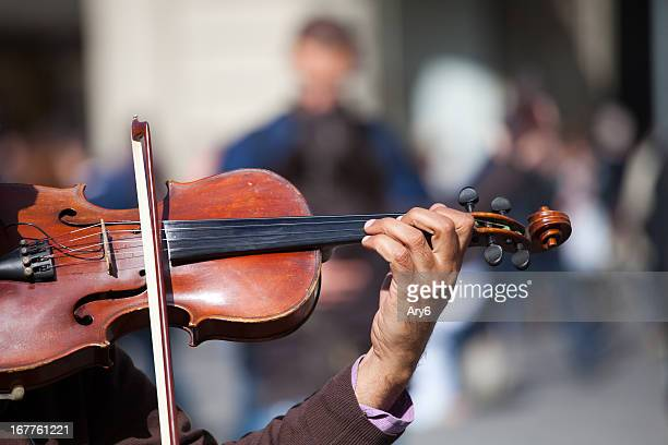 Action violinist, street musician
