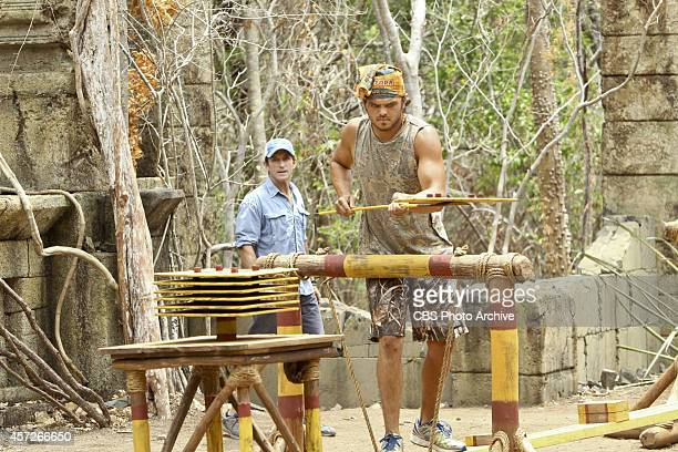'Actions vs Accusations' Jeff Probst watches Wes Nale compete during the third episode of Survivor 29 Wednesday Oct 8 on the CBS Television Network