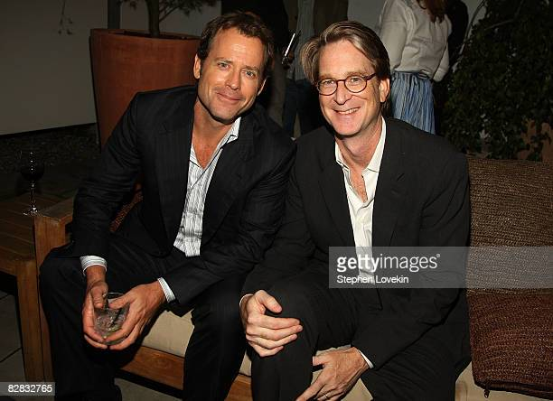 "Actior Greg Kinnear and director David Koepp attend the after party for ""Ghost Town"" hosted by The Cinema Society at The Soho Grand Hotel on..."