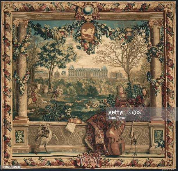 active at Gobelins Gobelins Manufactory French active 1662 present Gobelins France Europe before 1712 Wool and silk Object 3156 x 3416 cm