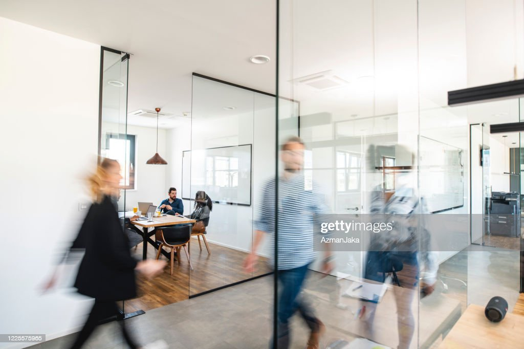 Active Business Colleagues and the Development of Ideas : Stock Photo