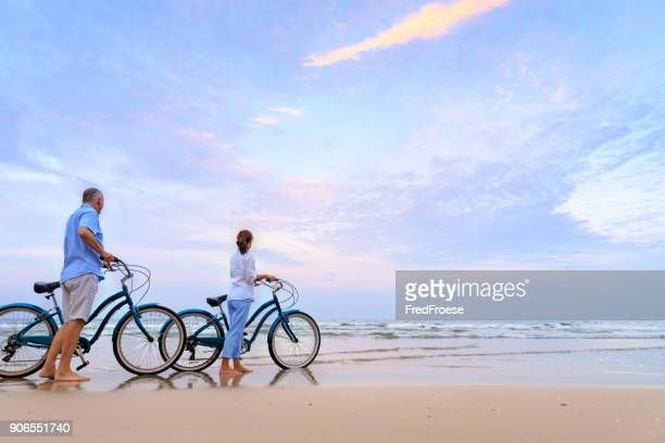 Active couple with bikes