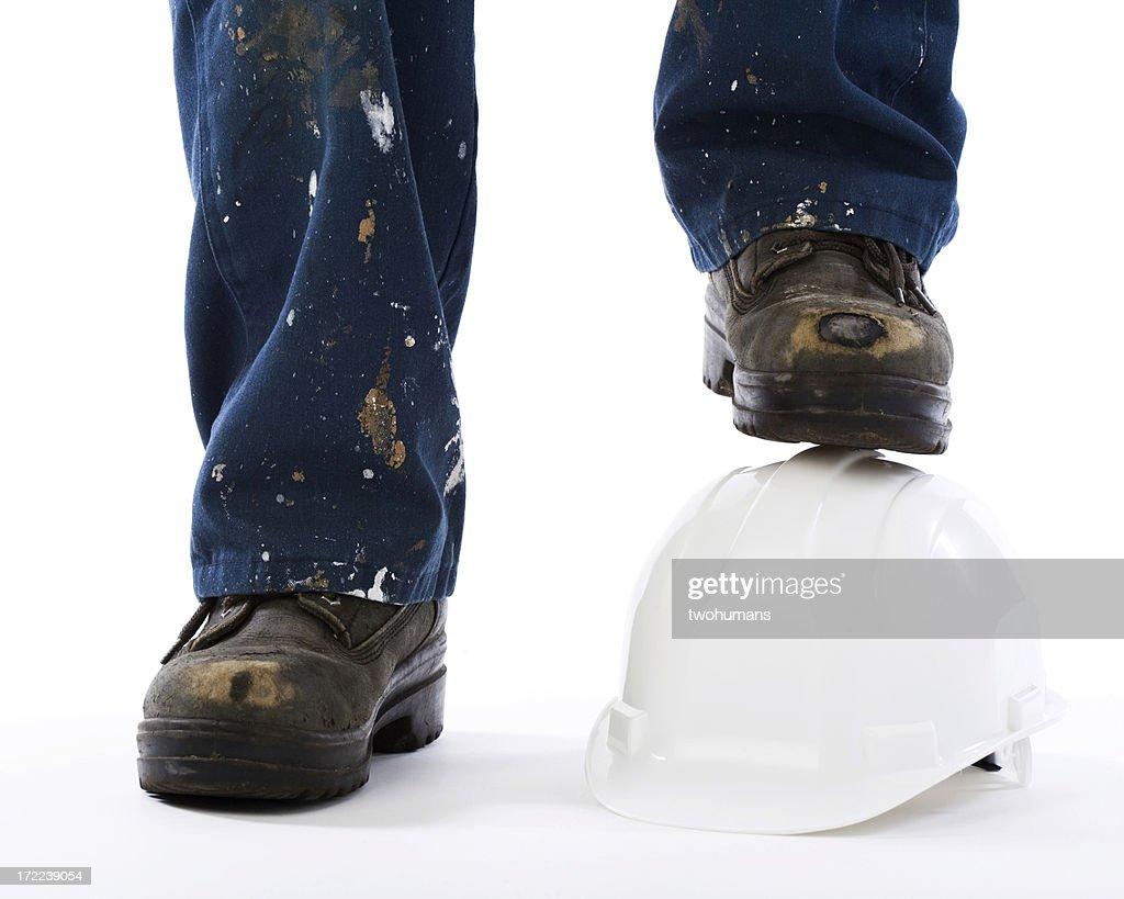 Active feet - Construction boots : Stock Photo