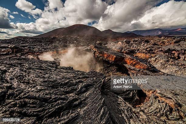 Active fumaroles. Volcano Tolbachik