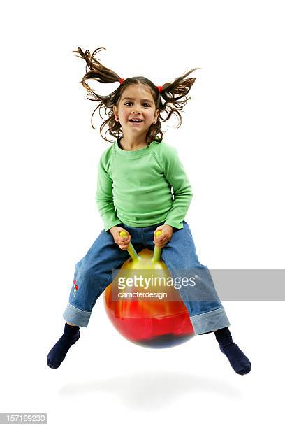 active fun! - bouncing ball stock photos and pictures