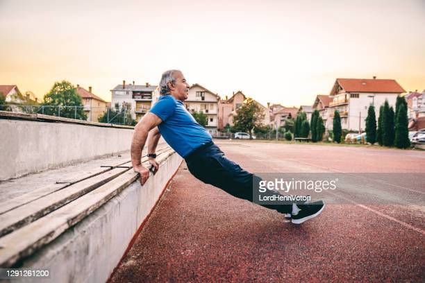 active mature fitness person - greece stock pictures, royalty-free photos & images