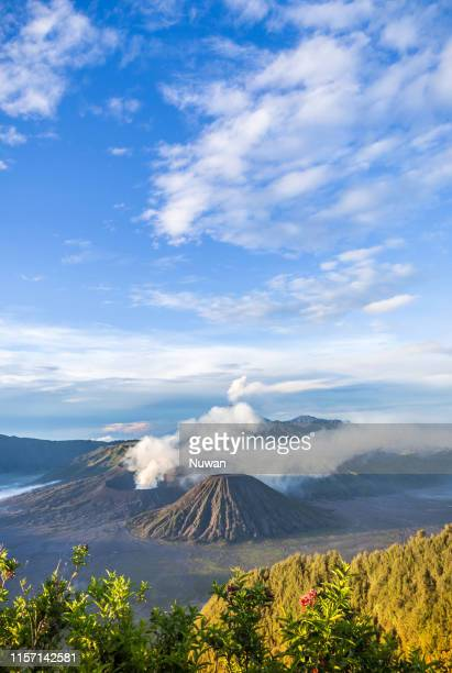 active mt. bromo volcano in java, indonesia - mt semeru stock pictures, royalty-free photos & images