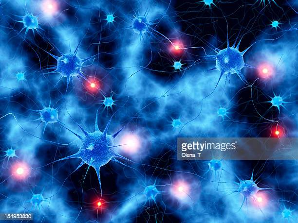 Active neural network abstract background