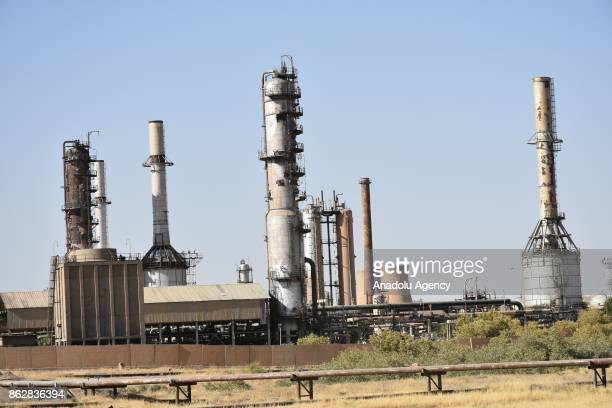 Active oil facilities are seen after Peshmerga forces withdrawn all oil fields and facilities in Kirkuk province Iraq on October 18 2017