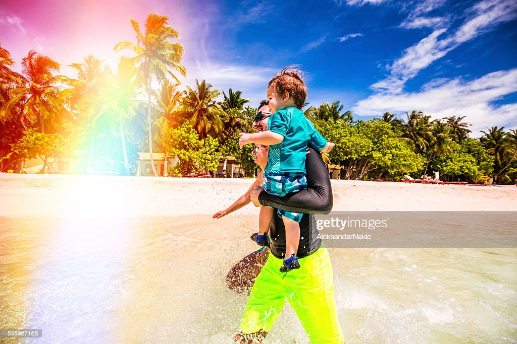 Active on vacation : Stock Photo