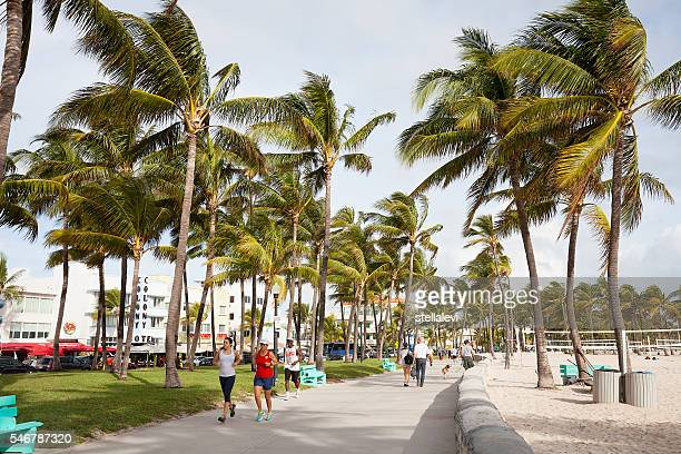 Active People In South Beach Miami Florida