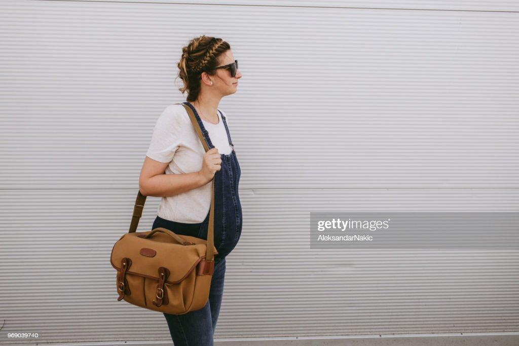 Active pregnant woman : Stock Photo