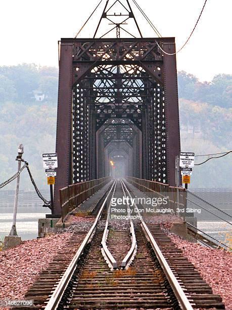 Active railroad bridge