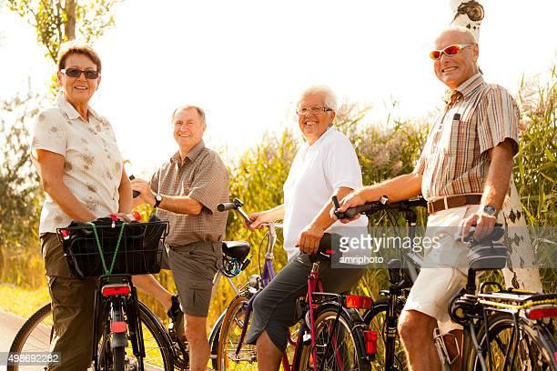 Les retraités sur les vélos