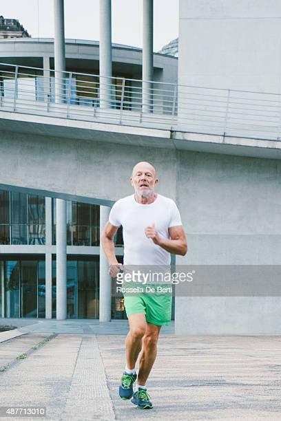 Aktive Senior Männlich Joggen