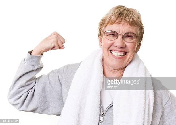 Active Senior Woman Flexing
