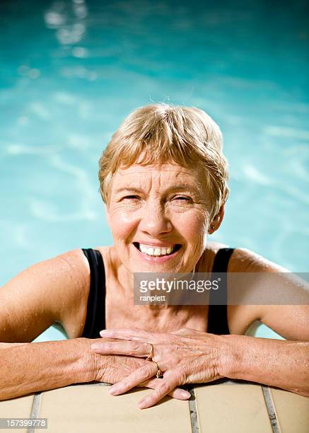Active Senior Woman in the Pool