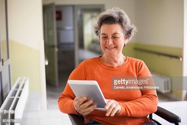 Mulher idosa ativa