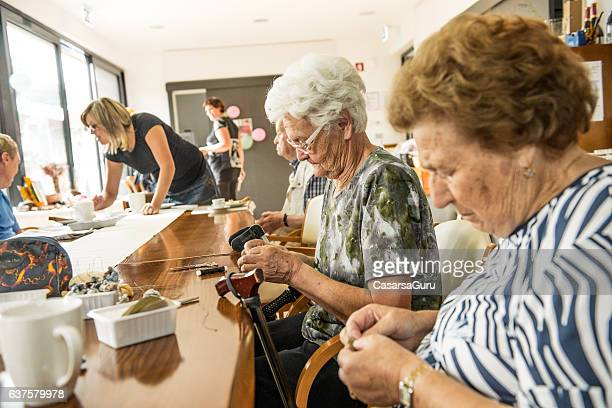 Active Seniors in an Elderly Daycare Center