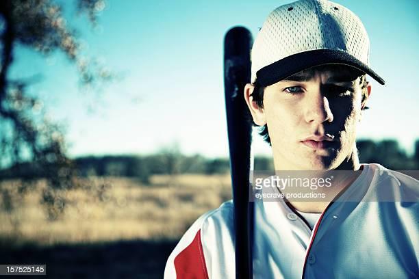 アクティブなティーン雄野球選手