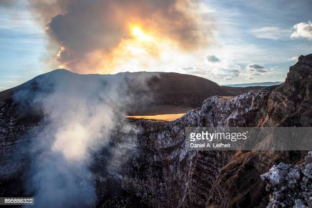 active volcano - masaya volcano stock pictures, royalty-free photos & images