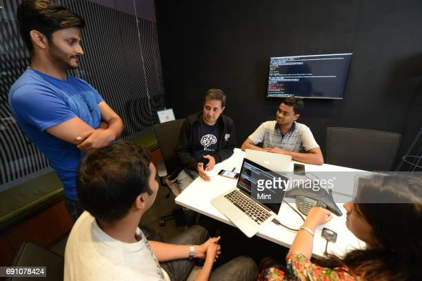 Activeais cofounder Ravi Shankar with testing team discussing on Interface Activeai is a service platform that connects consumers with their banks...