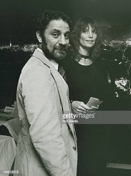 Activist Abbie Hoffman and wife Johanna Lawrenson attend 10th Anniversary Party for Poets and Writers on October 22 1980 at Roseland Ballroom in New...