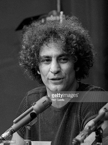 Activist Abbie Hoffman attends New York Journalism Symposium on April 23 1972 in New York City