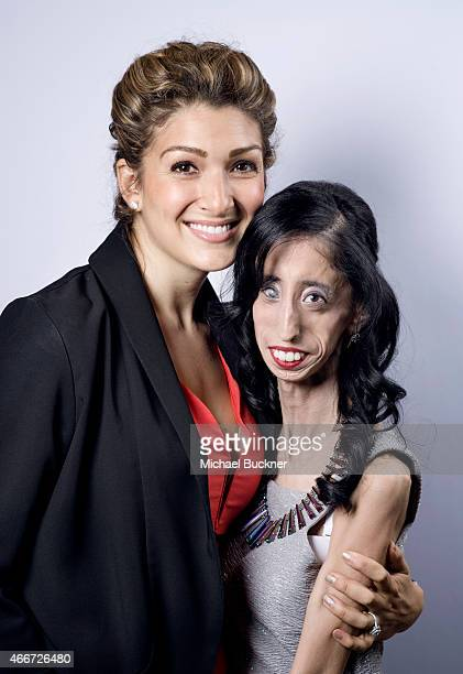 Activist Alexis Jones and Lizzie Velasquez pose for a portrait for the film 'A Brave Heart The Lizzie Velasquez Story' during 2015 SXSW Music Film...