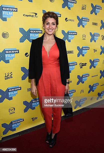 Activist Alexis Jones arrives at the premiere of 'A Brave Heart The Lizzie Velasquez Story' at Paramount Theatre on March 14 2015 in Austin Texas