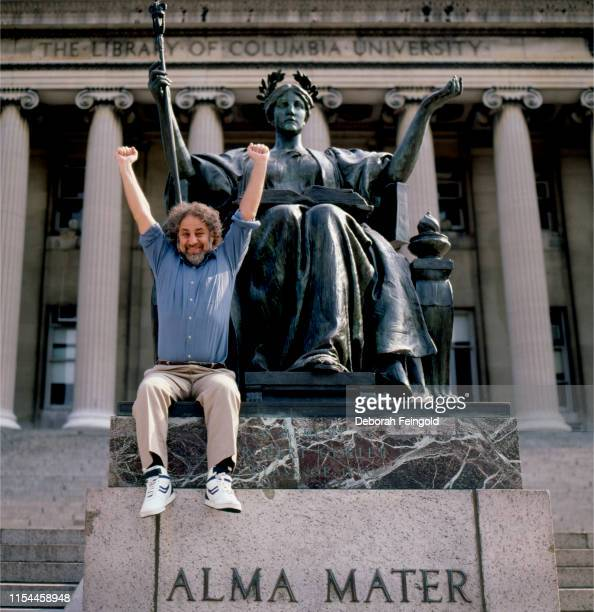 Activist and author Abbie Hoffman poses for a portrait in 1988 in front of the Library at Columbia University in New York City New York