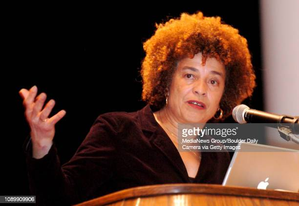 CO / Activist and author Angela Davis gives a speech Tuesday night in the Glenn Miller Ballroom at the University Memorial Center Davis is part of a...