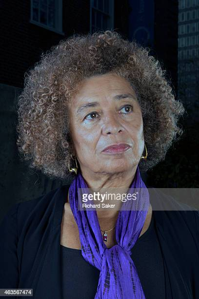 Activist and feminist campaigner Angela Davis is photographed for Observer on November 29 2014 in London England