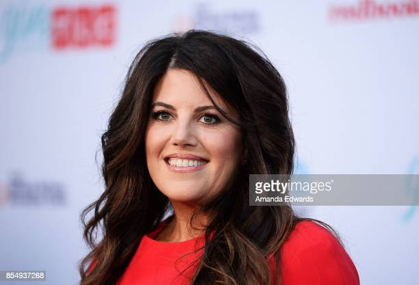Activist and honoree Monica Lewinsky arrives at TLC's Give A Little Awards at NeueHouse Hollywood on September 27 2017 in Los Angeles California