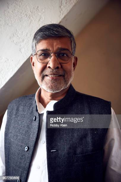 Activist and Nobel Prize winner Kailash Satyarthi from the film 'Kailash' poses for a portrait in the YouTube x Getty Images Portrait Studio at 2018...