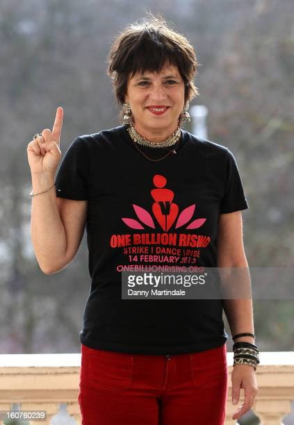 Activist and playwright Eve Ensler attends a photocall to promote One Billion Rising a global movement aiming to end violence towards women at ICA on...